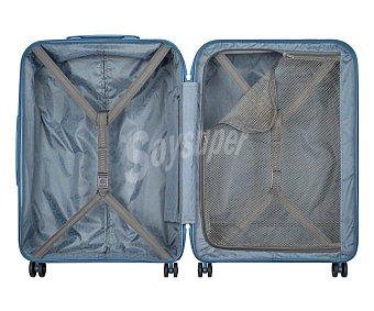 VISA DELSEY Munia Maleta rígida de tamaño mediano para viaje, color azul, con 4 ruedas dobles, 66x47x27cm, cierre con código y TSA delsey