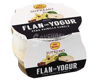 Supremo Flan con yogur y sabor a pera, vainilla y canela reina 125 g