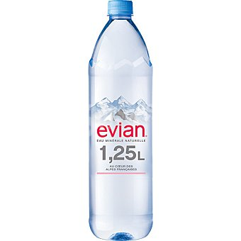 Evian Agua mineral natural botella 1,25 l Pack 6 botellas x 1.25 l