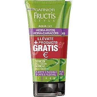 Fructis Style Garnier Gel Hidra Rizos fijación fuerte pack ahorro 2 tubos de 200 ml