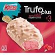 Trufo Plus bombón helado de sorbete de frambuesa 3 unidades estuche 240 g 3 unidades Kalise