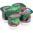 Yogur bífidus desnatado cremoso de frutas silvestres 0% Pack 4 u x 120 g Activia Danone
