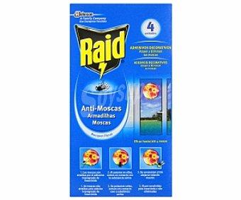 Raid Adhesivo antimoscas Caja 4 unid