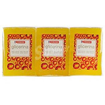 Eroski Jabón natural de glicerina Pack 3x125 g
