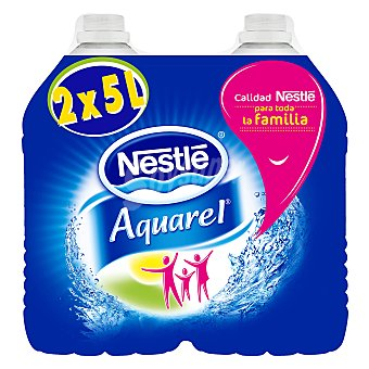 Aquarel Nestlé Agua mineral natural Pack 2x5 l