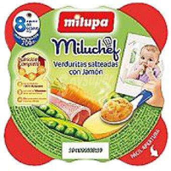 Milupa Miluchef de jamón-verduras Plato 200 g