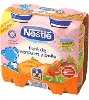 Nestlé Tarrito de puré de verduras y pollo Pack de 2x250 g