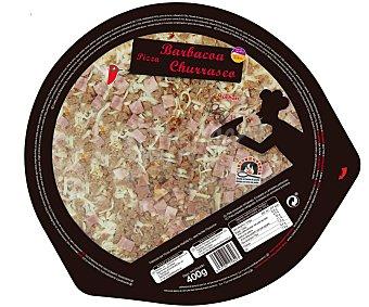 Auchan Pizza barbacoa cocida en horno de piedra 400 g