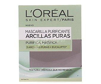 L'Oréal Mascarilla de arcilla purificante y matificante 1 unidad