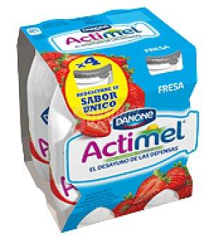 Danone Actimel Yogur líquido fresa Danone Pack de 4x100 g