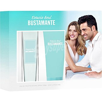 Bustamante Esencia Azul eau de toilette femenina + body lotion tubo 75 ml spray 100 ml