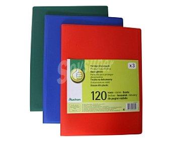 PRODUCTO ECONÓMICO ALCAMPO Carpetas con 120 Fundas Tamaño Folio de Diferentes Colores 1 Unidad