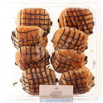 CALIDAD ARTESANA Mini napolitana de chocolate producción propia bandeja 270 g 8 unidades