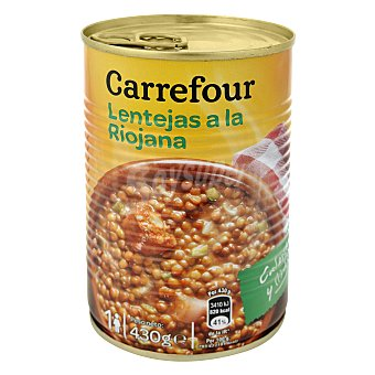 Carrefour Lentejas a la riojana 430 g