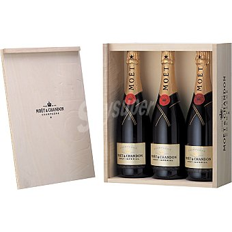 Moët & Chandon Champagne brut imperial Estuche 3 botellas 75 cl