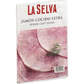 La Selva Jamón cocido extra Envase 140 g