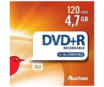 Auchan Estuche Slim 5 DVD+R 5u