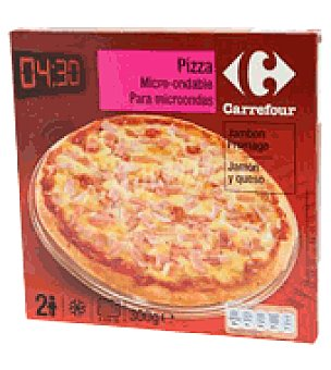 Carrefour Pizza microndas jamón y queso 1 pizza