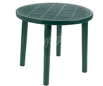 RESOL Mesa redonda modelo Tossa, de polipropileno monoblock verde y 86x73 centímetros 1 unidad