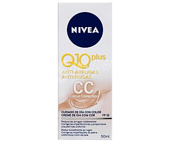 Nivea Crema antiarrugas colour correction con FP-15 Q-10 Plus Tubo 50 ml