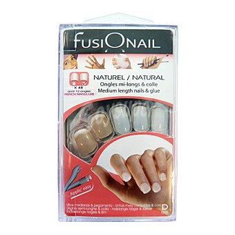 Fusionail Kit uñas medianas naturales 36 unds. + 12 unds. manicura francesa 1 ud