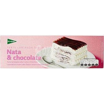 El Corte Inglés Tarta laminada sabor nata y chocolate Estuche 1000 ml