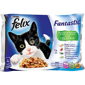 Felix Purina Fantastic de verdura pack 4x100 g