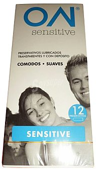 ON Preservativo sensitive (ultrafinos mayor sensacion) Paquete 12 u
