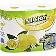 Rollos de cocina Maxi decorado perfume de limón extra largo Paquete 2 rollos Nicky
