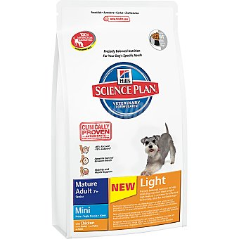 HILL'S SCIENCE PLAN MATURE ADULT Mini Light Alimento especial para perros de + 7 años de raza mini con pollo bajo en grasa Bolsa 6,5 kg