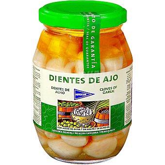 Hipercor Dientes de ajos con aceite oliva Frasco 200 g neto escurrido