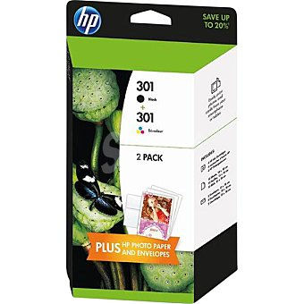 HP Nº301 cartuchos de tinta negro y color Pack 2