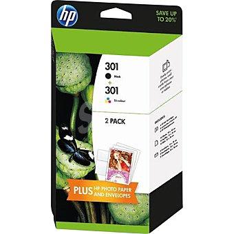 HP Nº301 cartuchos de tinta negro y color Pack 2