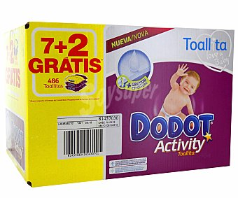 Dodot Activity Dodot Activity Toallitas Pack 9 ud 486 ud