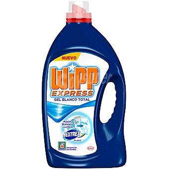 Wipp Express detergente máquina líquido gel Blanco Total con efecto Neutrex sin lejía  botella 44 dosis