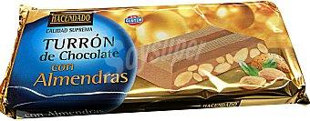 Hacendado Turron chocolate con almendra *navidad* Pastilla 300 g