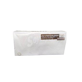 Carrefour Home Servilletas 2 capas 30x30CM Blancas 160 Ud