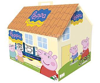 PEPPA PIG Bonita casita con los dibujos de tus personajes favoritos de la serie Peppa Pig, que incluye 4 sellos, 1 cuaderno, 20 pegatinas, 36 rotuladores y 1 tampón de tinta 1 unidad