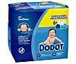 Toallitas húmedas para bebé con acción hidratante, aptas para cara y manos 6 x 64 uds Dodot