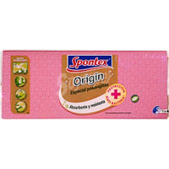 Spontex Bayeta absorbente grande 62x38 cm Pack 1+4 unid