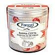 Helado de panna cotta con salsa fresa farggi Tarrina 390 g Farggi