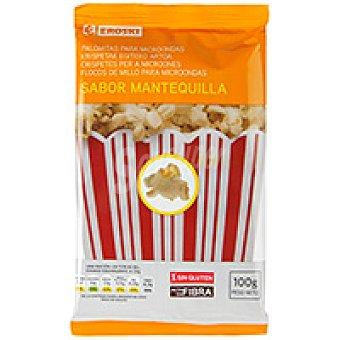 Eroski Palomitas con mantequilla para microondas Bolsa 100 g