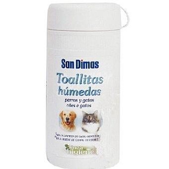 San Dimas Toallitas húmedas para la limpieza de ojos y oídos para perros y gatos Bote 70 unidades