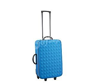 PRODUCTO ECONÓMICO ALCAMPO Maleta flexible color azul, 2 ruedas, 52 centimetros 1 Unidad