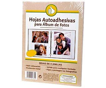 PRODUCTO ECONÓMICO Bolsa de 10 hojas autoadhesivas de recambio para álbumes de fotos de 4 anillas alcampo