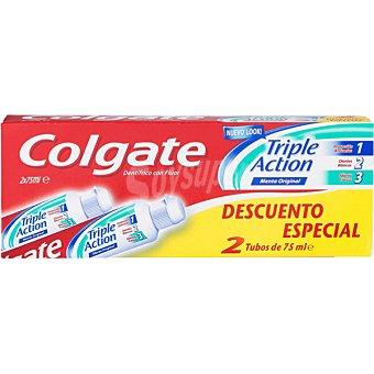 Colgate Pasta de dientes Triple Acción pack 2 tubo 75 ml pack ahorro Pack 2 tubo 75 ml