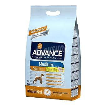 ADVANCE MEDIUM Pienso para perros adultos Advance Medium pollo y arroz 3 Kg