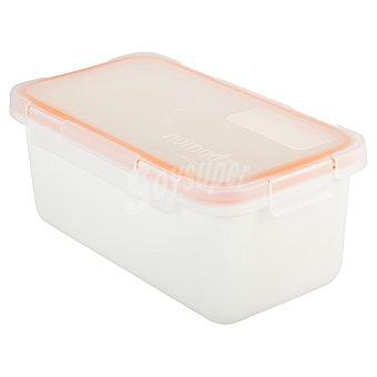 Valira Hermetico rectangular de plastico en color blanco 1 l