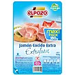 Jamón cocido extra en lonchas extrafinas bajo en grasa sin gluten envase 180 g ElPozo