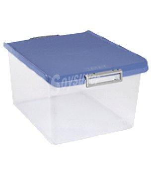 Tatay Caja multiusos transparente 35l. con tapa azul 1 ud